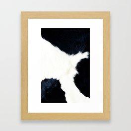 Black & White Spots (Cow Print) Framed Art Print