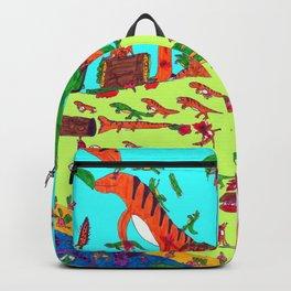 Dinosaur battle_lake Backpack