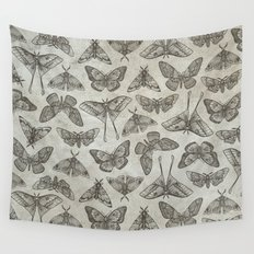 Lepidoptera Beige Wall Tapestry