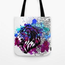 Purple Lion Spirit Tote Bag