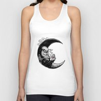 rockabilly Tank Tops featuring Rockabilly moon by Kabay