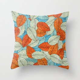 Let the Leaves Fall #09 Throw Pillow