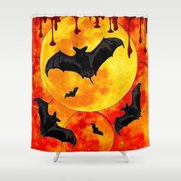 Bloody Full Moon Bats Shower Curtain