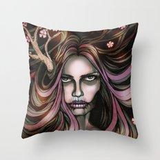 The Secret Blossoming Throw Pillow