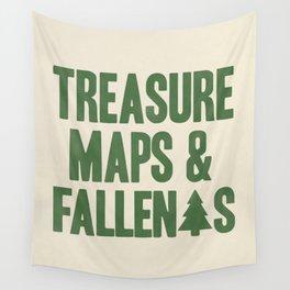 Treasure Maps & Fallen Trees Wall Tapestry