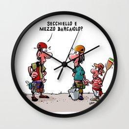 Secchiello e barcaiolo Wall Clock