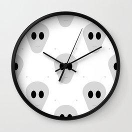 Aliens face Wall Clock
