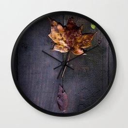 Autumn Leaves in Indiana Wall Clock