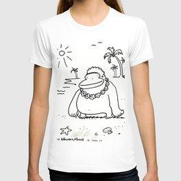 Ape Wears Lei in Hawaii T-shirt