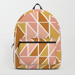 Blush and Terracotta Shapes Backpack
