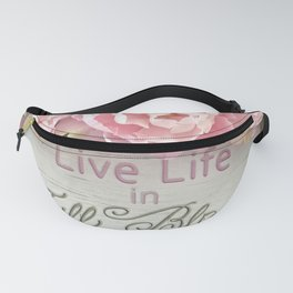 Shabby Chic Cottage Pink Peonies Inspirational Art Print Home Decor Fanny Pack