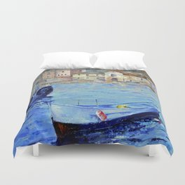 Lonely boat Duvet Cover
