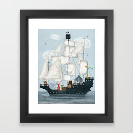 a nautical adventure Framed Art Print