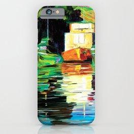 Lake at night iPhone Case