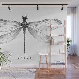 Dragonfly Dance | Black & White Wall Mural