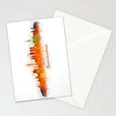 Barcelona City Skyline Hq _v3 Stationery Cards