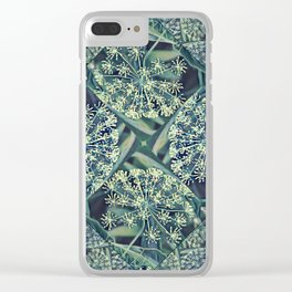 Green Plant Corner Clear iPhone Case