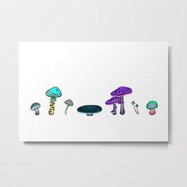 A Mess of Mushrooms Metal Print