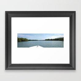 The Fisherman estuary Framed Art Print