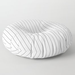White Black Pinstripes Minimalist Floor Pillow