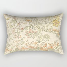 "Alphonse Mucha ""Anemones, Apple Blossoms and Narcissis"" Rectangular Pillow"