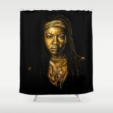 Michonne Golden Shower Curtain