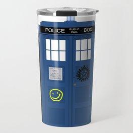 The Doctor and Sherlock meets Supernatural Travel Mug