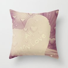 Luv Hearts Throw Pillow
