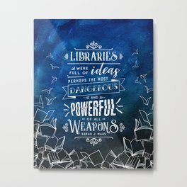 Libraries Metal Print