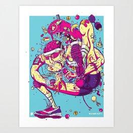 (R)UnHealthy Art Print