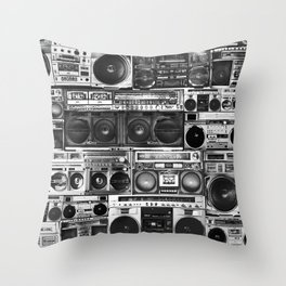 house of boombox Throw Pillow