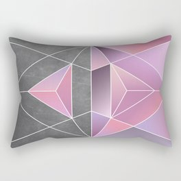 Polar Geometry Rectangular Pillow