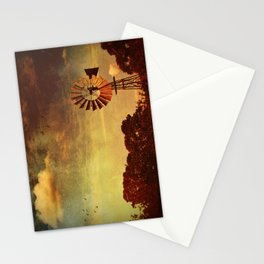 Rustic Vintage Windmill Stationery Cards