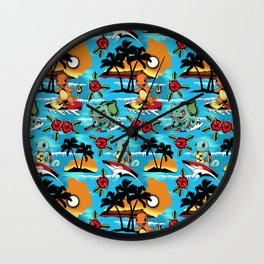 Hawaii Pok and GO Wall Clock