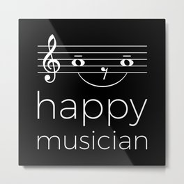 Happy musician (dark colors) Metal Print