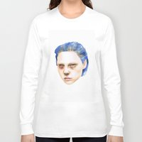 emma stone Long Sleeve T-shirts featuring Emma by Jethro Lacson