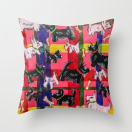 scotties Throw Pillow
