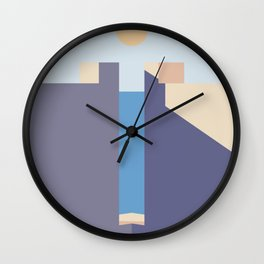 Geometric Landscapes of La Muralla Roja 3 Wall Clock