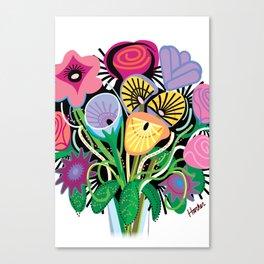 Animal Flowers Canvas Print