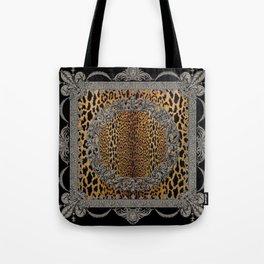 Baroque Leopard Scarf Tote Bag