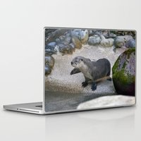 otter Laptop & iPad Skins featuring Otter by Phil Hinkle Designs