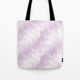 Tiles background in different shades of purple made with triangles mosaic Tote Bag