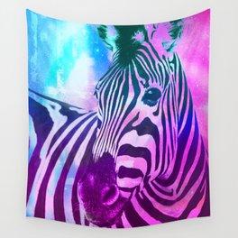 Neon Zebra Wall Tapestry