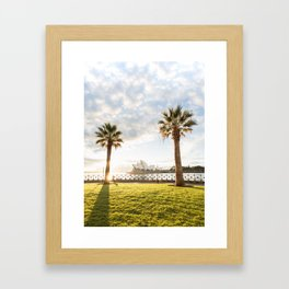 Morning Run With a View Framed Art Print