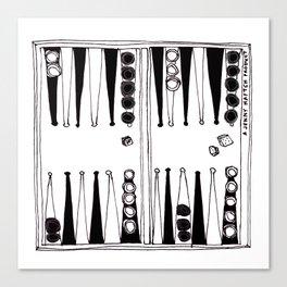 backgammon - zwei Canvas Print