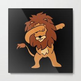 Dabbing Lion Metal Print