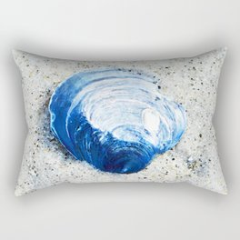 Blue Seashell By Sharon Cummings Rectangular Pillow