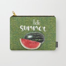 Hello Summer // Green + Red Watermelon Carry-All Pouch