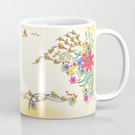 Vibrant Floral to Floral Coffee Mug