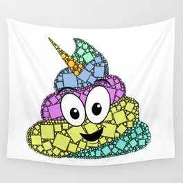 POO-nicorn - Magical Poop Unicorn - 57 Montgomery ave Wall Tapestry